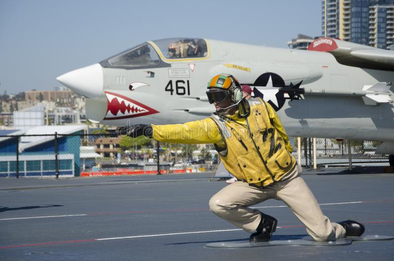 USS Midway Museum San Diego California royalty free stock image