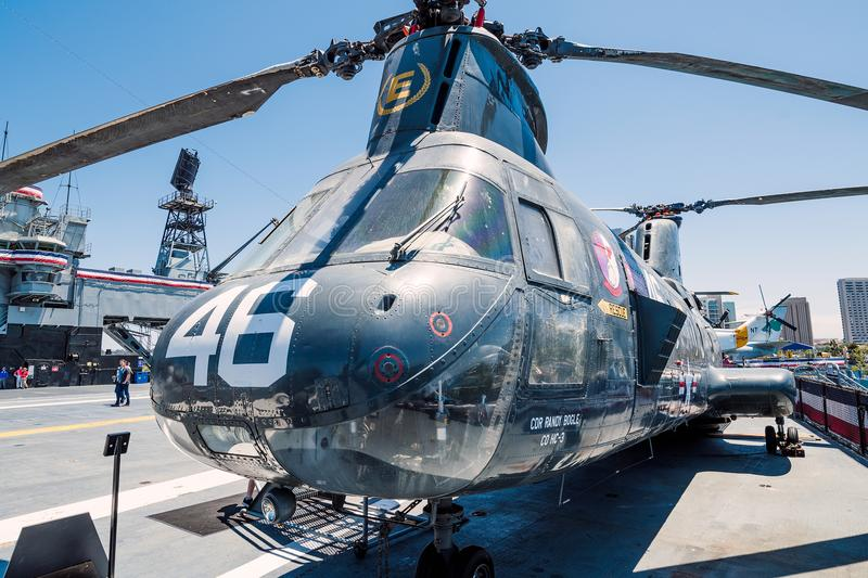 Transport Rescue Helicopter Rotor Blades USS Midway Aircraft Carrier