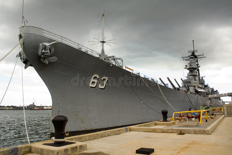 USS Missouri fotografía de archivo libre de regalías