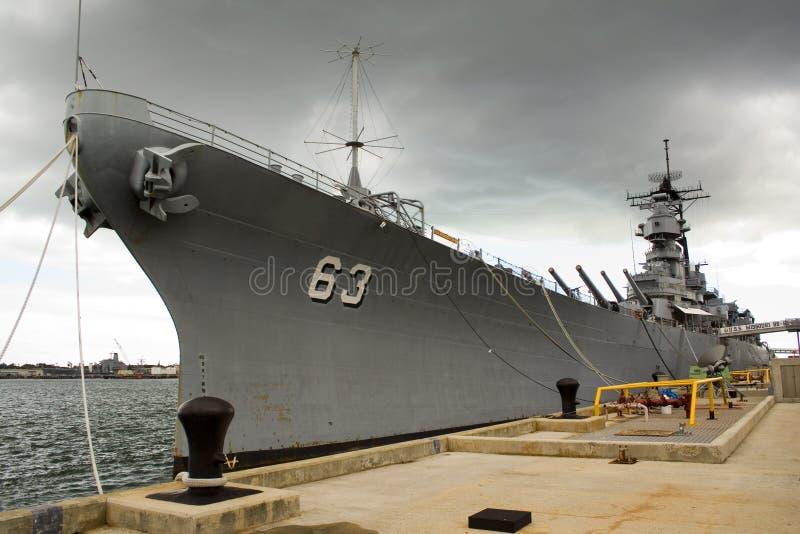 USS Missouri fotografia stock libera da diritti