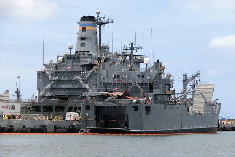 USS Missouri BB-63 chez Pearl Harbor photos libres de droits