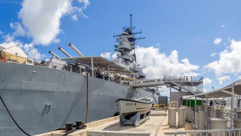 USS Missouri slagskeppmuseum arkivfoto