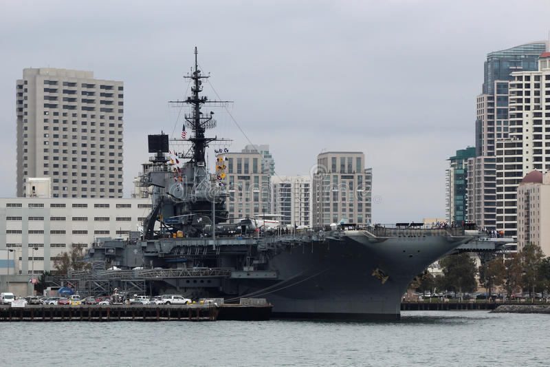 USS nöjesgata, San Diego arkivfoto