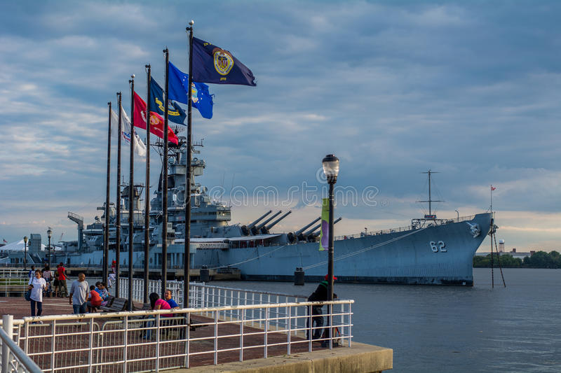 USS New Jersey royalty free stock images