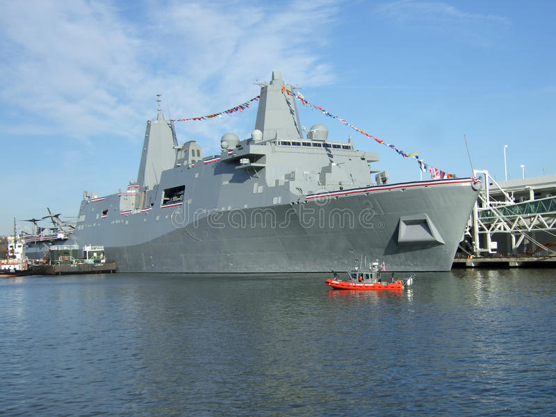 Download USS New York stock image. Image of military, power, york - 12736997