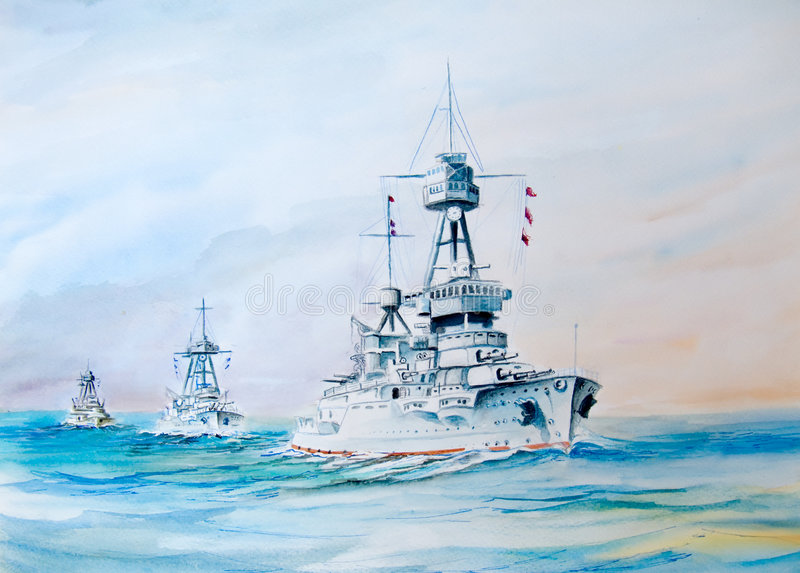 USS Oklahoma royalty illustrazione gratis