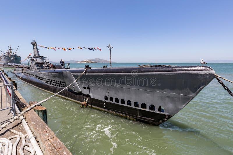USS Pampanito, Amerikaanse onderzeeër in San Francisco royalty-vrije stock fotografie