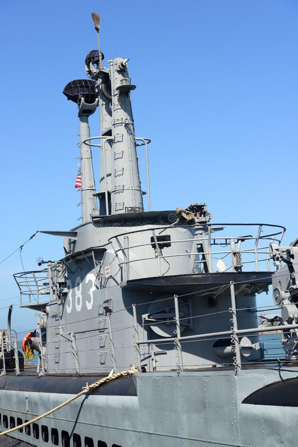 USS Pampanito (ss-383), San Francisco, de V.S. stock afbeelding
