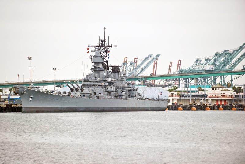 USS-Schlachtschiff IOWA BB61 stockbild
