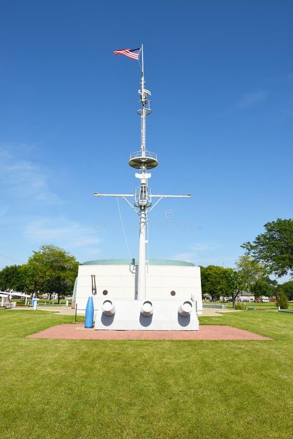 USS South Dakota minnesmärke arkivbilder