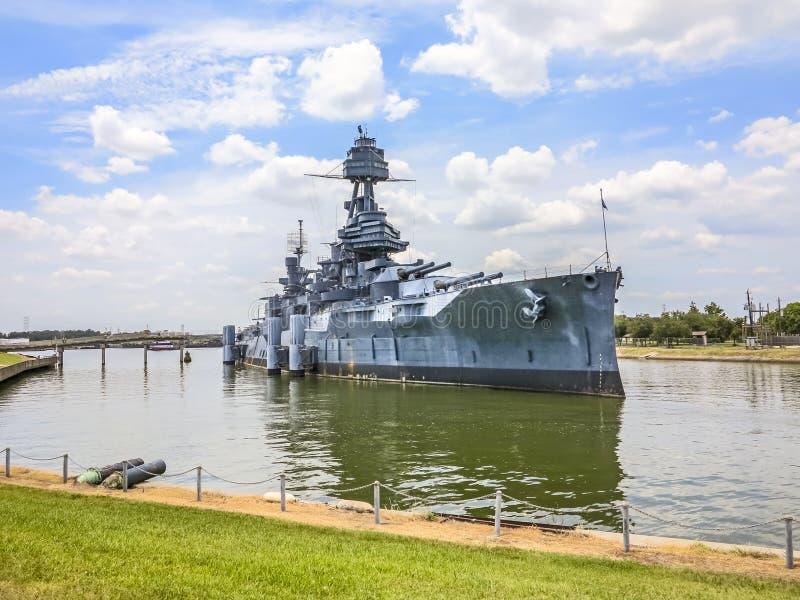 USS Texas em San Jacinto State Park imagens de stock royalty free