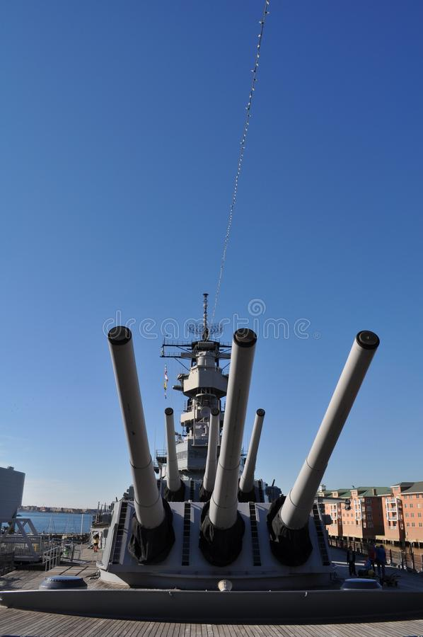 USS Wisconsin stock photo