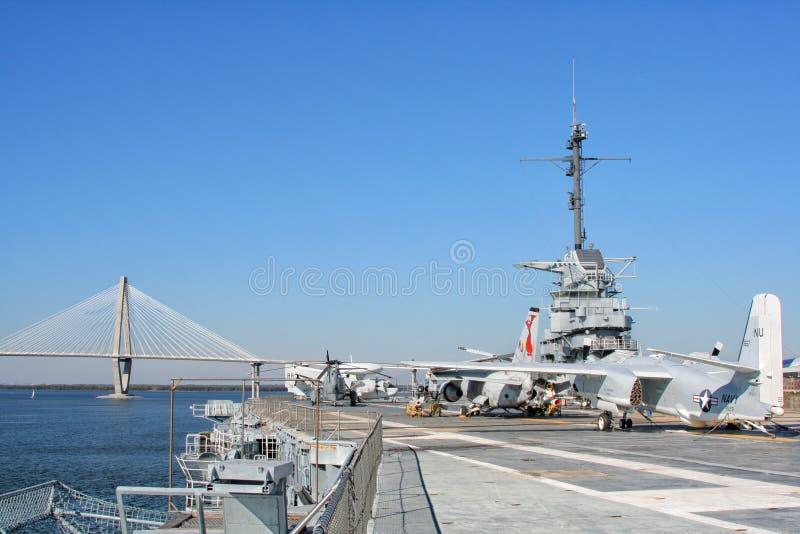 USS Yorktown Aircraft Carrier in Charleston, USA. USS Yorktown Aircraft Carrier in Charleston, South Carolina, USA stock photos
