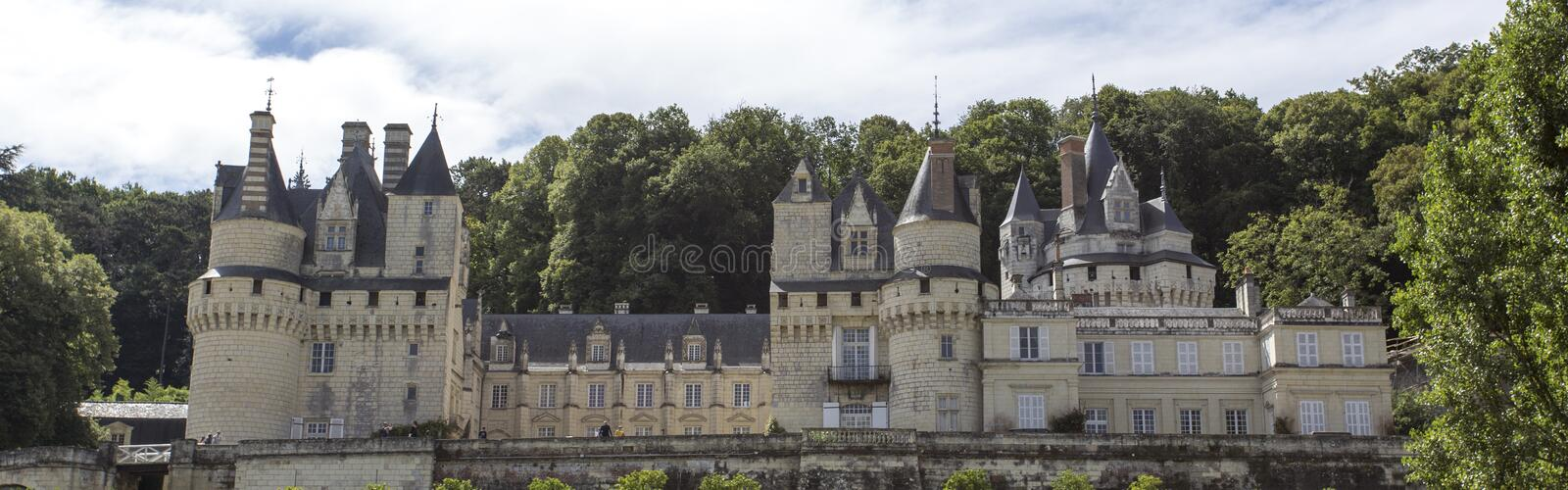 Usse Castle in Loire Valley, Rigny-Usse, France royalty free stock photo
