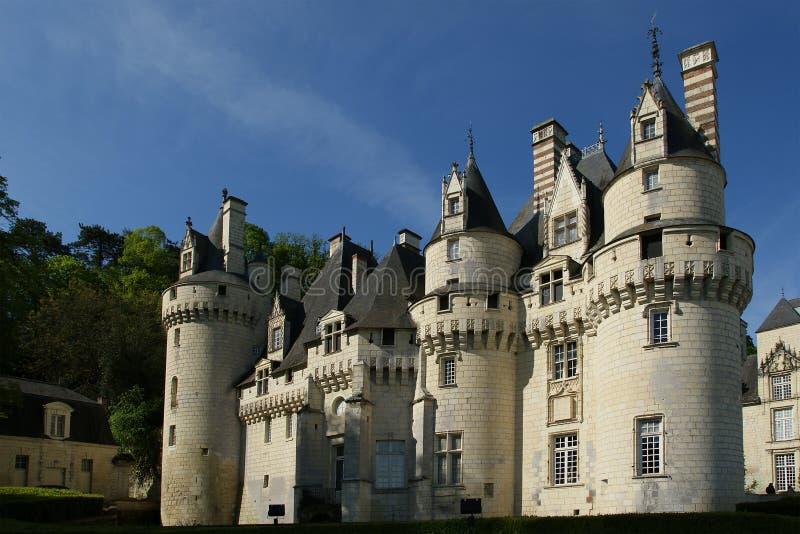 Ussekasteel, de Loire-Vallei, Frankrijk stock afbeelding