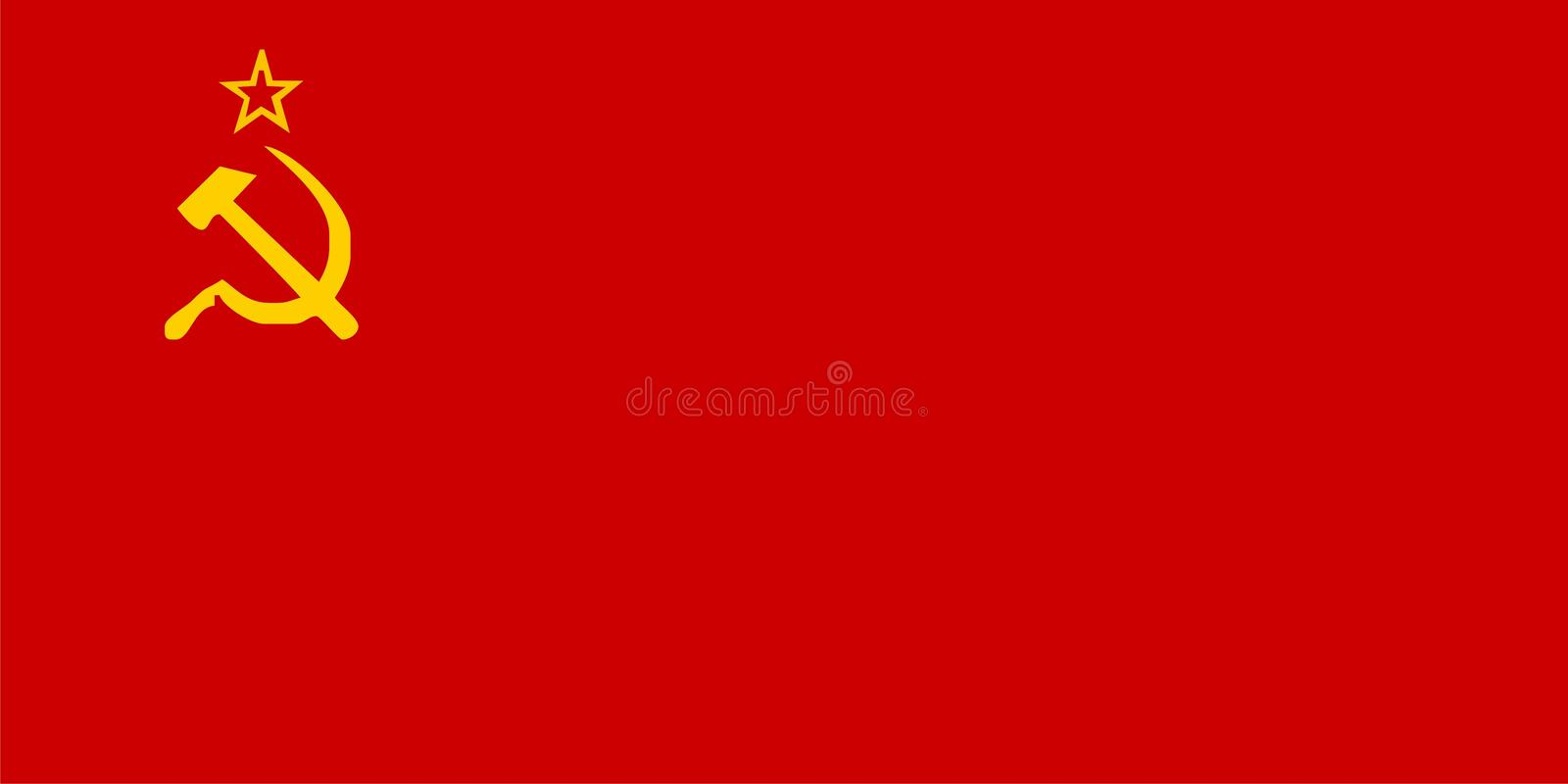 USSR flag stock image