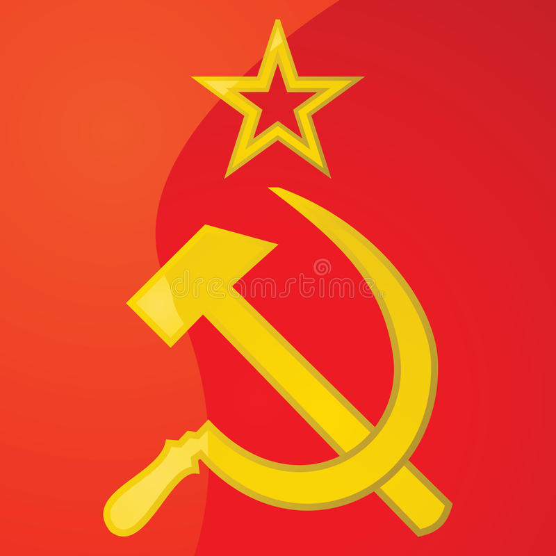 USSR hammer and sickle stock vector. Illustration of ...
