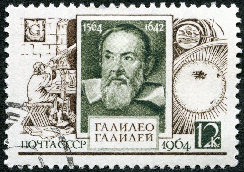 USSR - 1964: shows Galileo Galilei (1564-1642), 400th birth anniversary stock photos