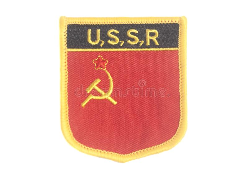 USSR Symbol Hammer and Sickle stock photo