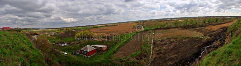Ust-Labinsk. Panoramic view in Ust-Labinsk, Krasnodar region royalty free stock images