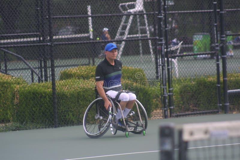 USTA-RULLSTOLMÄSTERSKAP 2018/Dwight Davis Tennis Center royaltyfria bilder