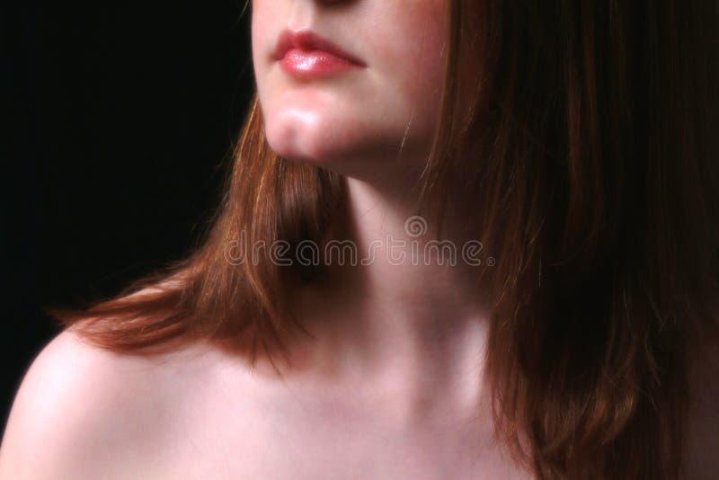 Usta Szyi Cień Zdjęcie Royalty Free