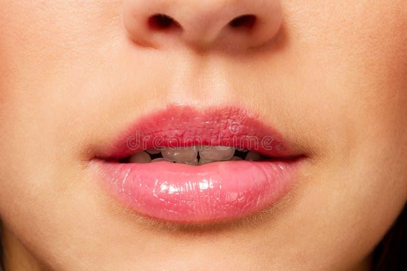 Usta zbliżenie obrazy stock