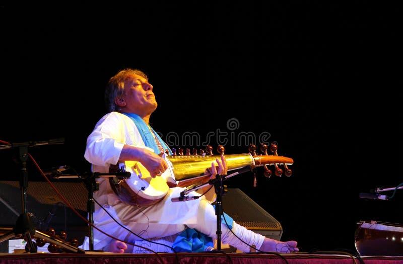 Ustad Amjad Ali Khan performs at Bahrain, Nov 2012 stock photo