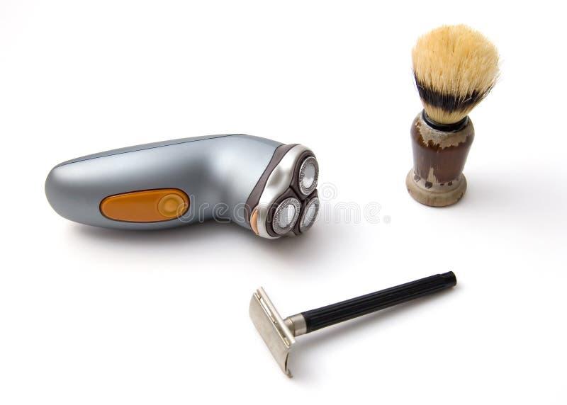 ustala się przy goleniu fotografia stock
