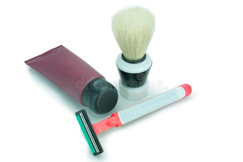 ustala się przy goleniu zdjęcie stock