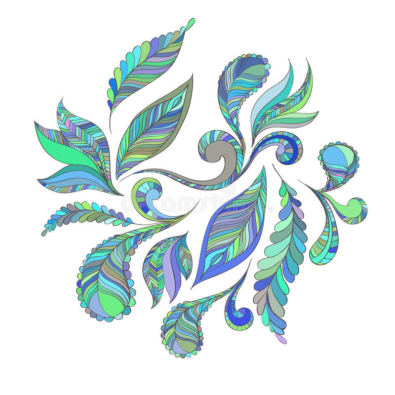 Ustaleni błękitów piórka royalty ilustracja