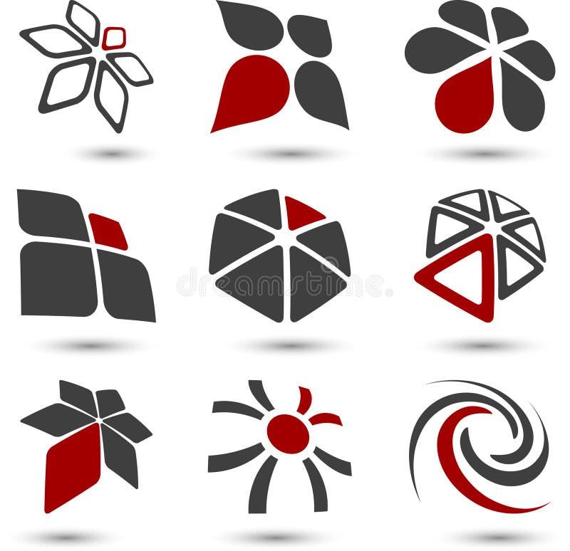 ustaleni firma symbole ilustracja wektor