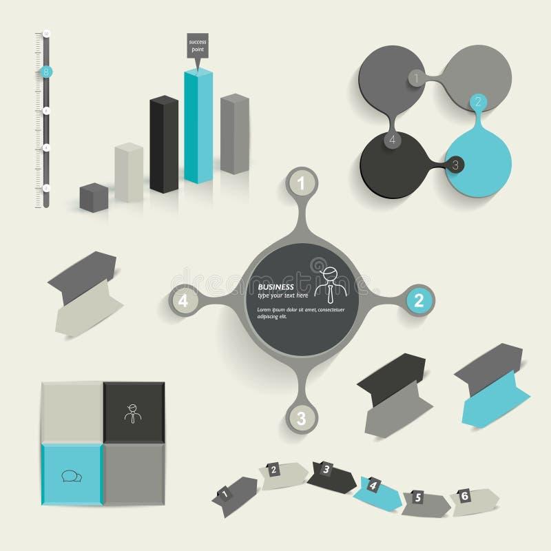 Ustaleni Infographic elementy ilustracji