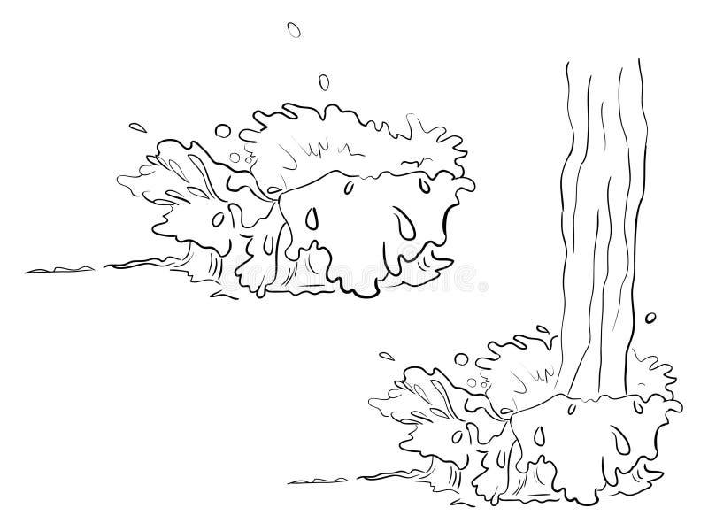 Ustaleni kreskowej sztuki pluśnięcia i przepływ royalty ilustracja