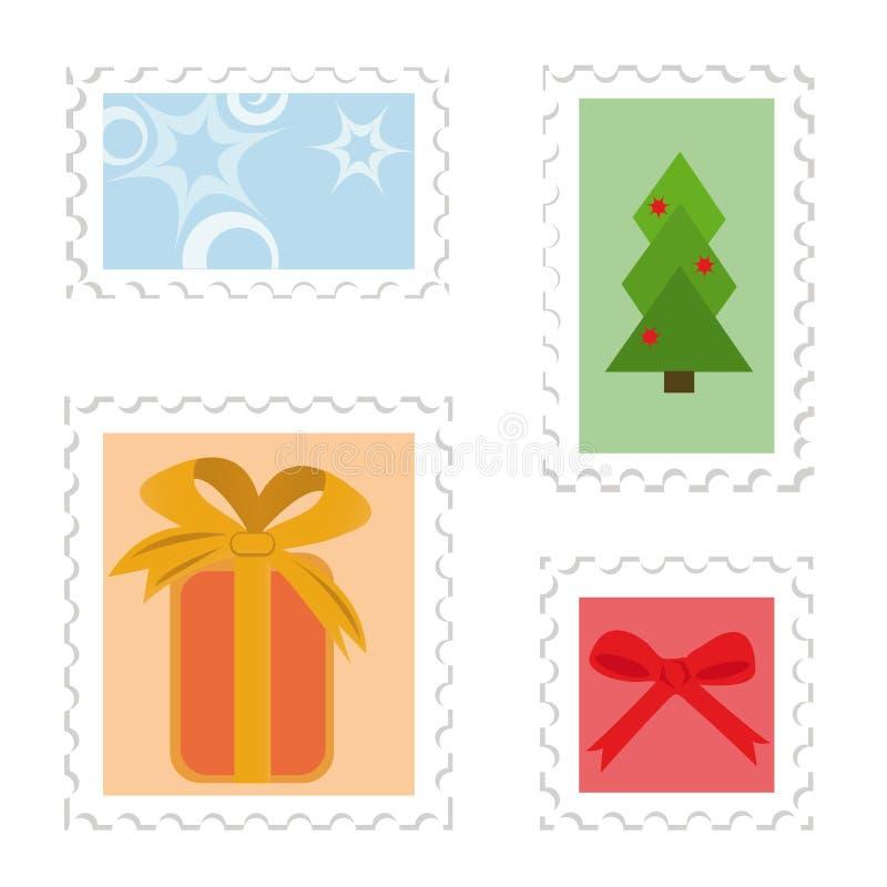 ustaleni opłata pocztowa znaczki royalty ilustracja
