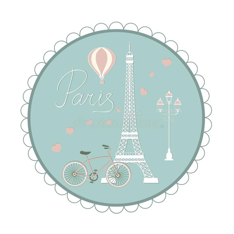 ustaleni Paris symbole ilustracji