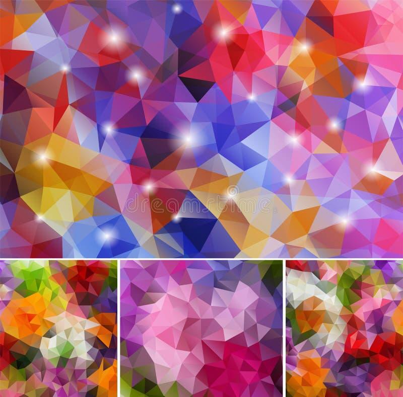 Ustaleni poligonalni tła ilustracji