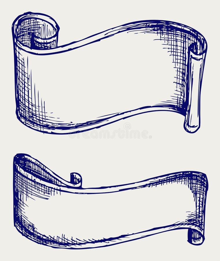 Ustaleni sztandary i faborki ilustracji