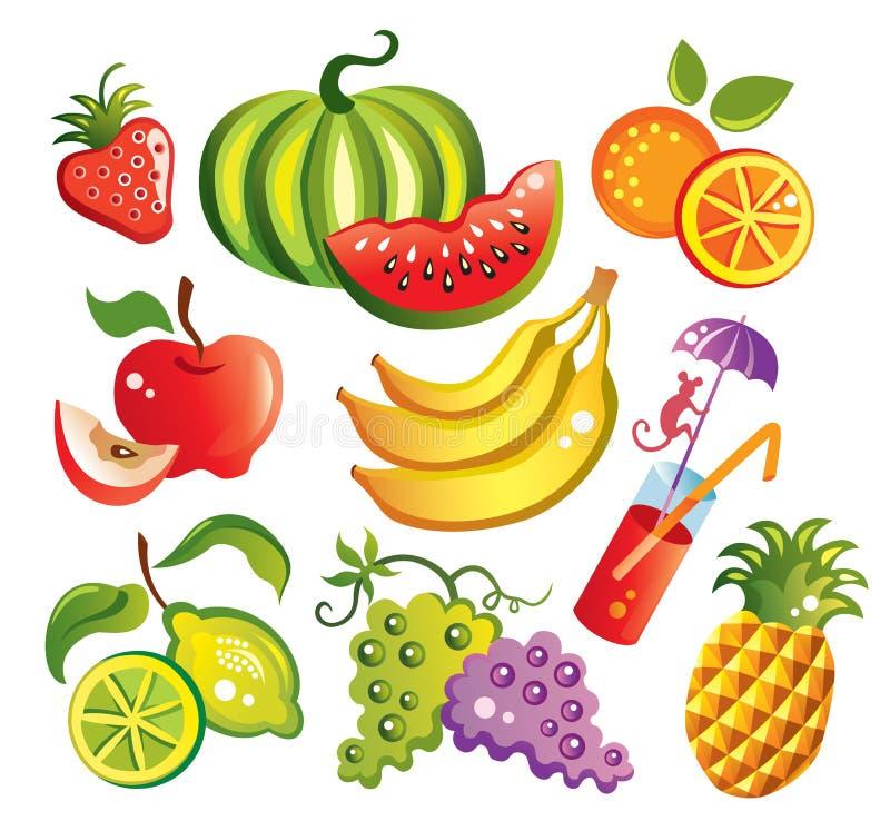 ustalenie owoców ilustracja wektor