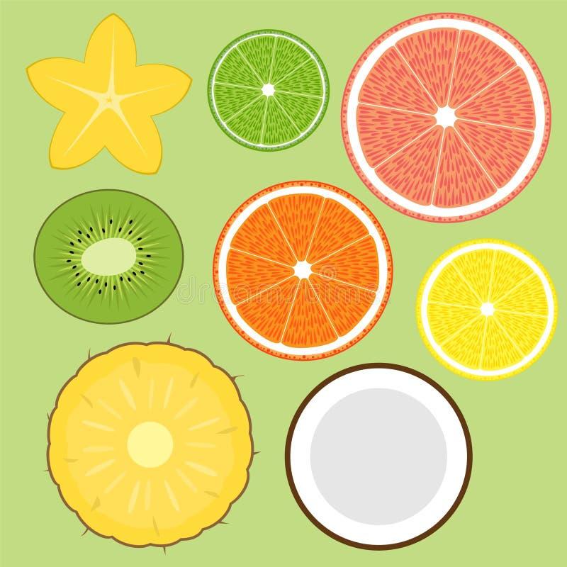 ustalenie owoców ilustracji