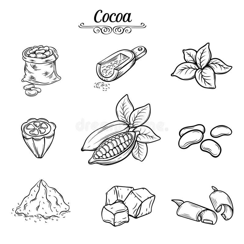 Ustalona dekoracyjna kakaowa czekolada royalty ilustracja