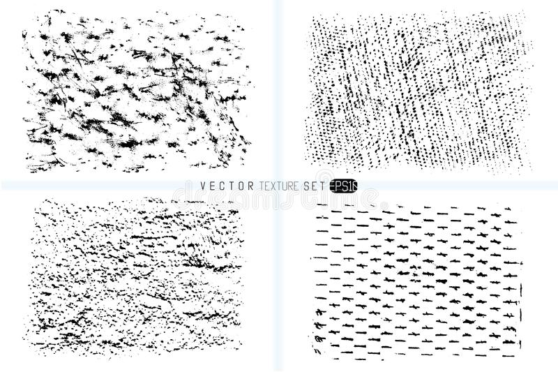 ustalona grunge tekstura Ręki rysujący tła Wektorowi szablony Punkt tekstury Wosk kredki punkty Monochrom artystyczny ilustracji