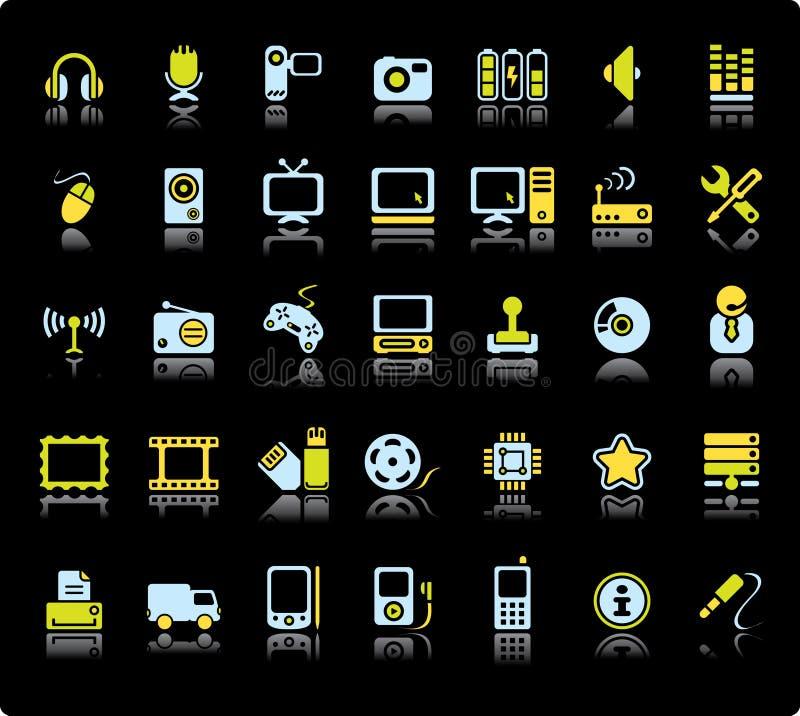 ustalona ikony sieć ilustracji