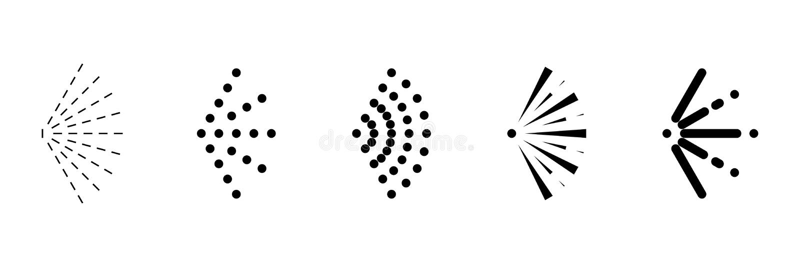 Ustalona kiści ikona na białym tle, wektor ilustracji
