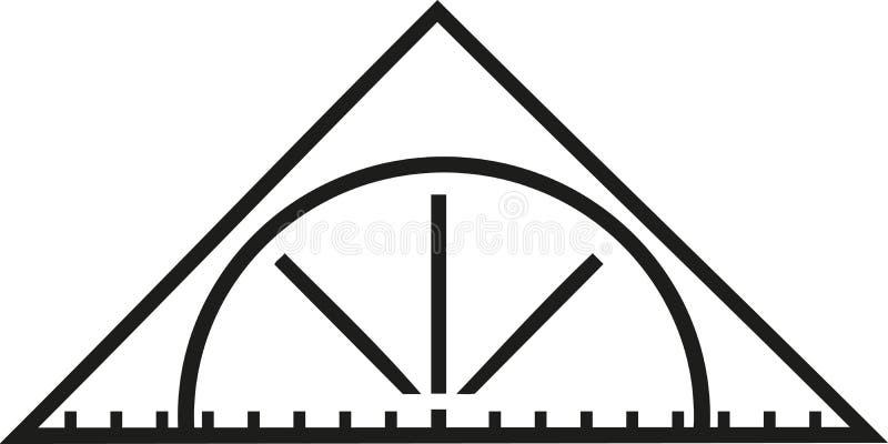 Ustalona kwadratowa trójbok władca royalty ilustracja