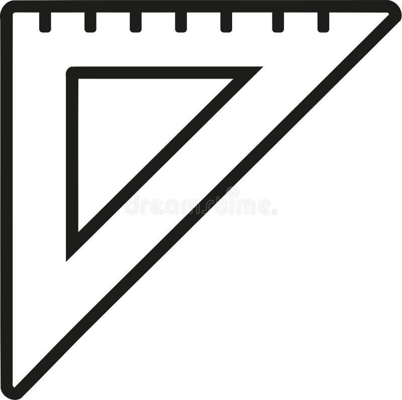 Ustalona kwadratowa władca ilustracji