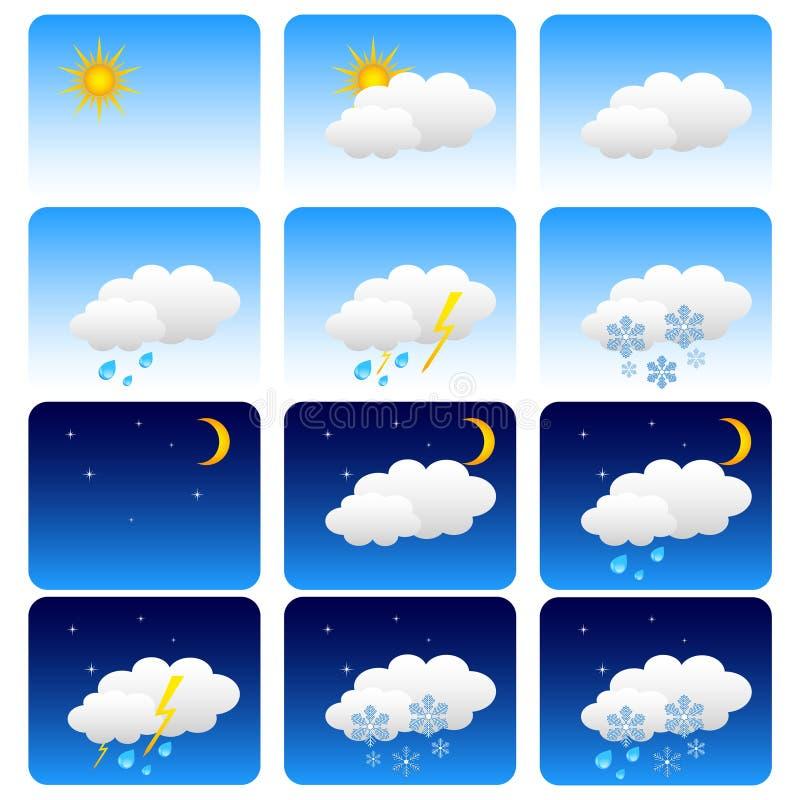 ustalona pogoda ilustracji