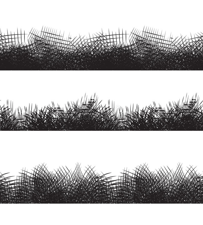 Ustalone bezszwowe czarny i biały granicy z ołówkowymi uderzeniami royalty ilustracja