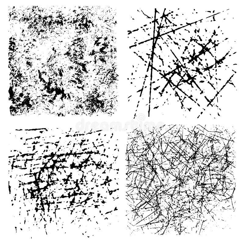 ustalone grunge tekstury tła Monochromatyczna abstrakt adra ukazuje się dla projekta ilustracji