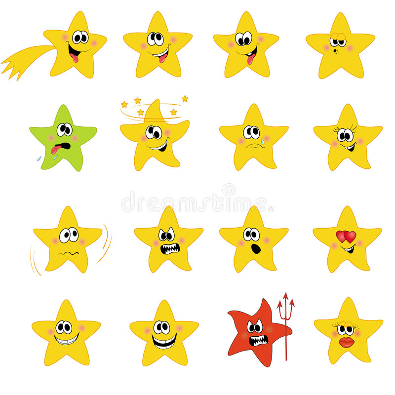 ustalone ikon gwiazdy fotografia royalty free
